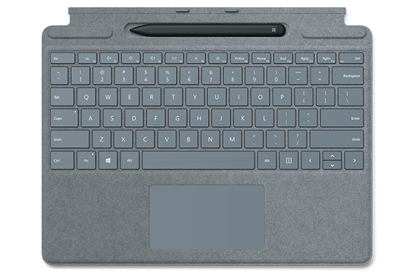 Surface Pro X Signature Keyboard with Slim Pen Bundle Ice Blue